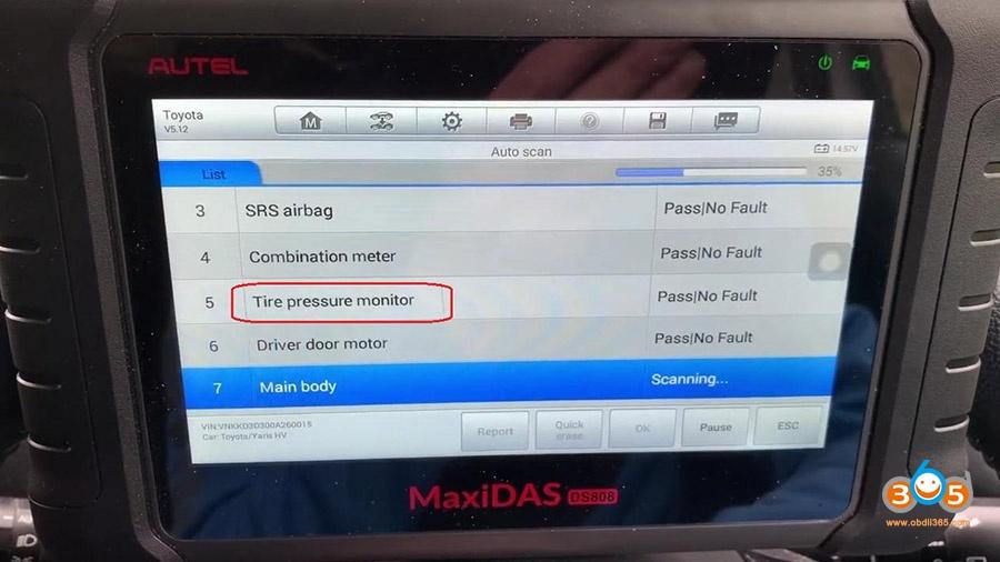 Autel Ds808 Diagnose Toyota Yaris 2012 04