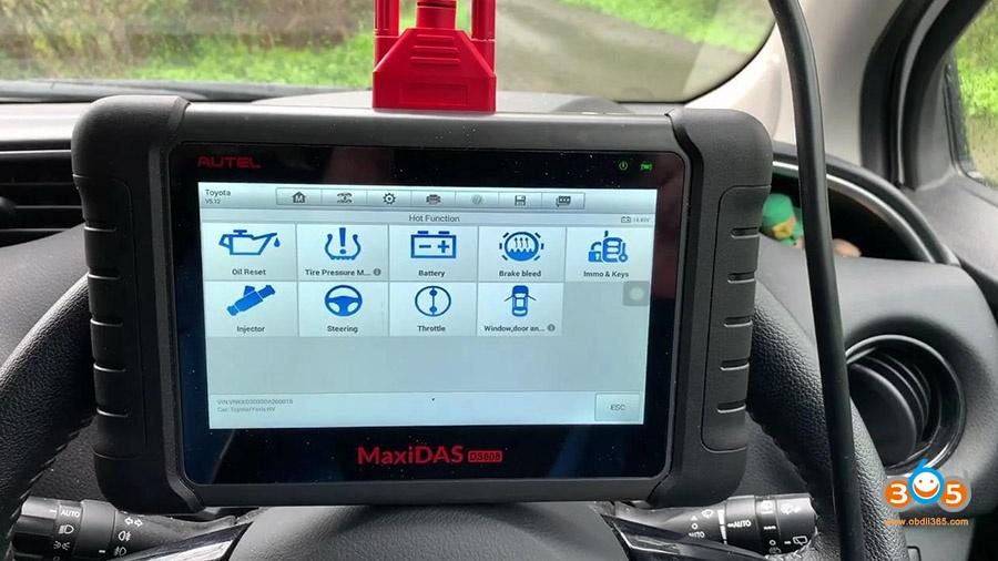 Autel Ds808 Diagnose Toyota Yaris 2012 08