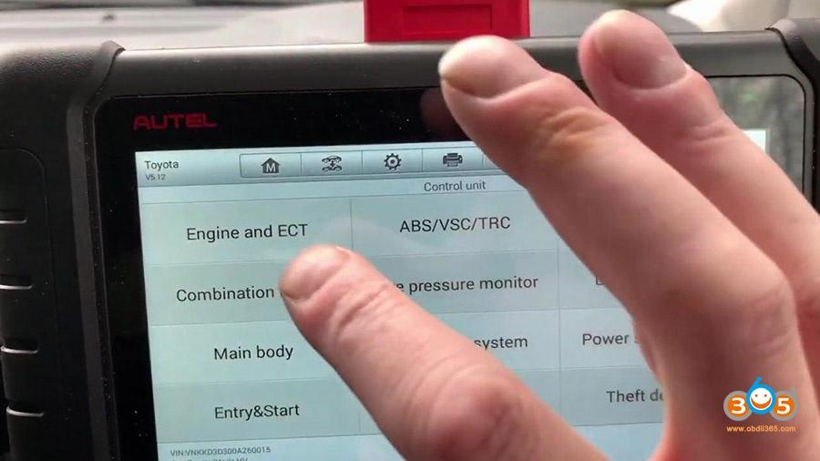 Autel Ds808 Diagnose Toyota Yaris 2012 10