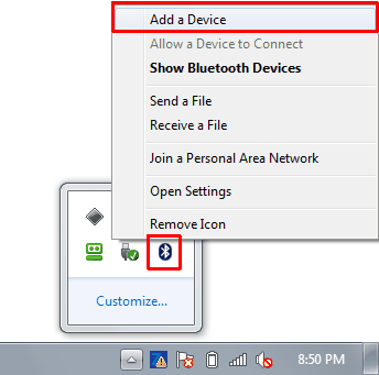 Bluetooth Add Device