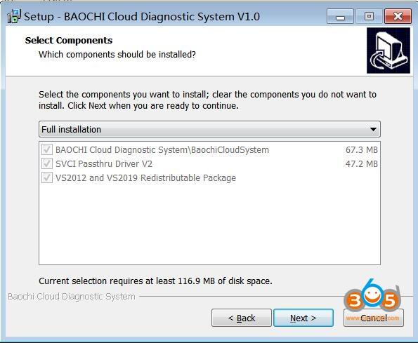 Install Baochi Cloud Diagnostic System 02