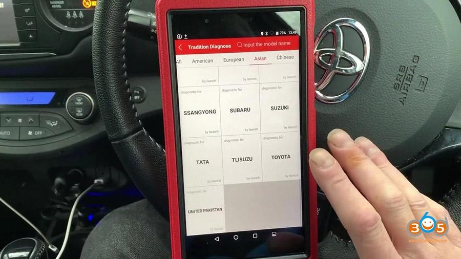 Launch X431 Pros Mini Diagnose Toyota Yaris 2012 07