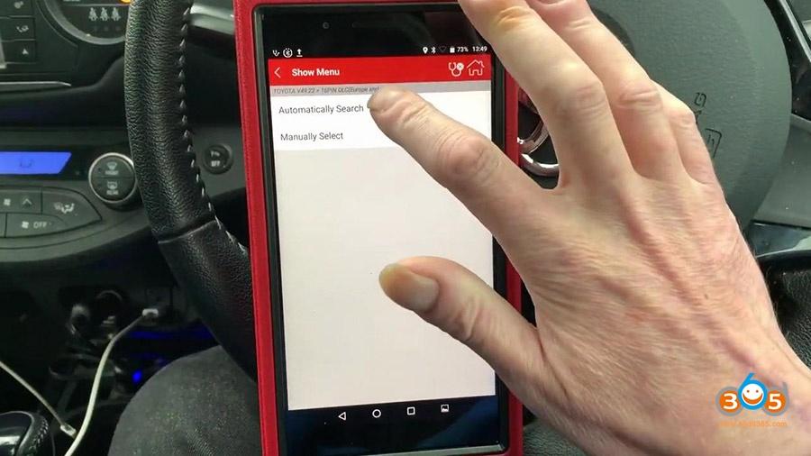 Launch X431 Pros Mini Diagnose Toyota Yaris 2012 09