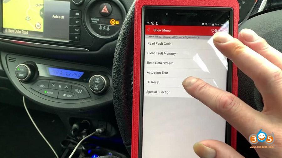 Launch X431 Pros Mini Diagnose Toyota Yaris 2012 20