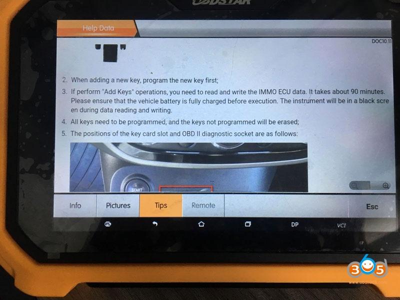 Obdstar Dp Plus Program Renault Clio Iv 2018 All Key Lost 07