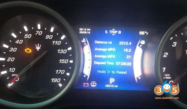 Obdstar X200 Maserati Oil Reset 11