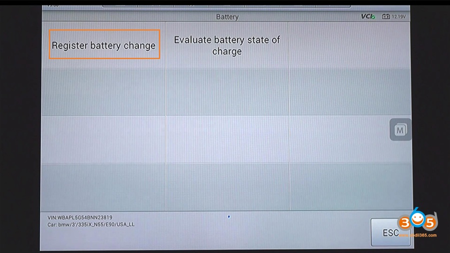 Autel Maxisys Bmw Battery Registration 12