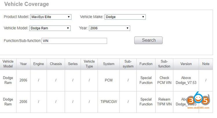 Autel MaxiSys Elite Write The VIN Into Dodge 01