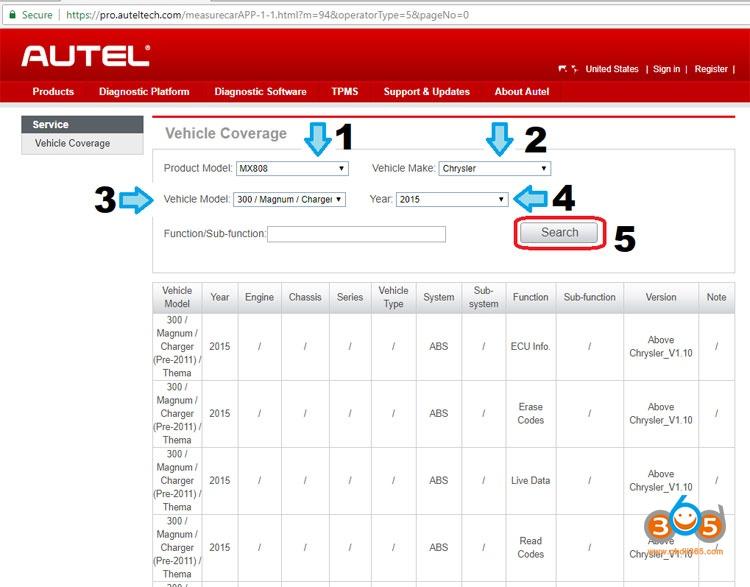 Autel MaxiSys Elite Write The VIN Into Dodge 02