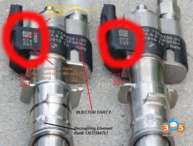 Code Bmw Fuel Injectors With Inpa 09