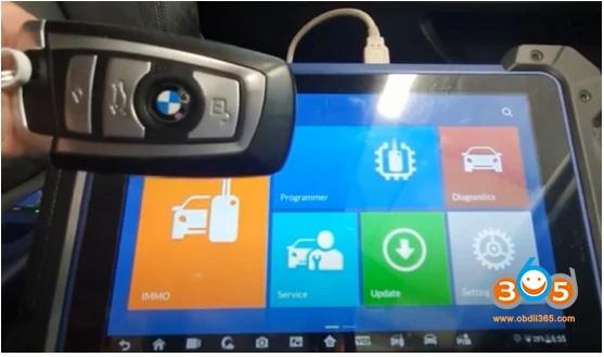 Autel Im608 Bmw Cas4 Cas4+ Key Programming Via Obd 01