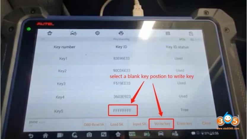 Autel Im608 Bmw Cas4 Cas4+ Key Programming Via Obd 12