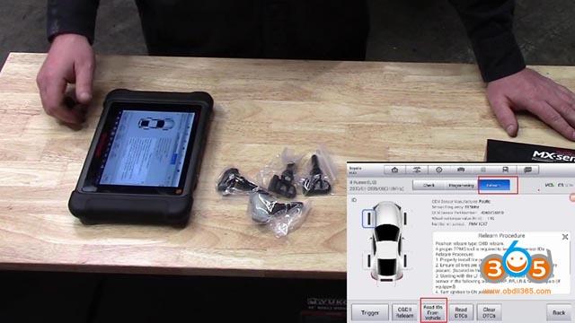 Autel Mx 1 Sensor Tpms Programming Toyota 4 Runner 13