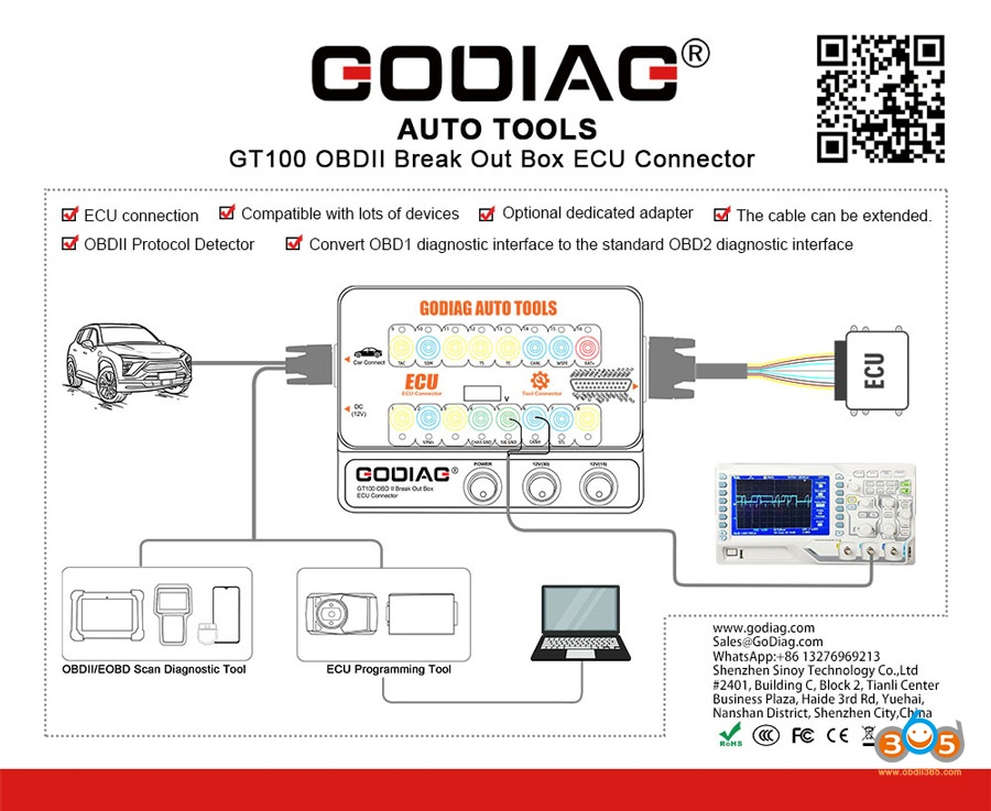 Godiag Gt100 Obdii Ecu Breakout Box Guide 03