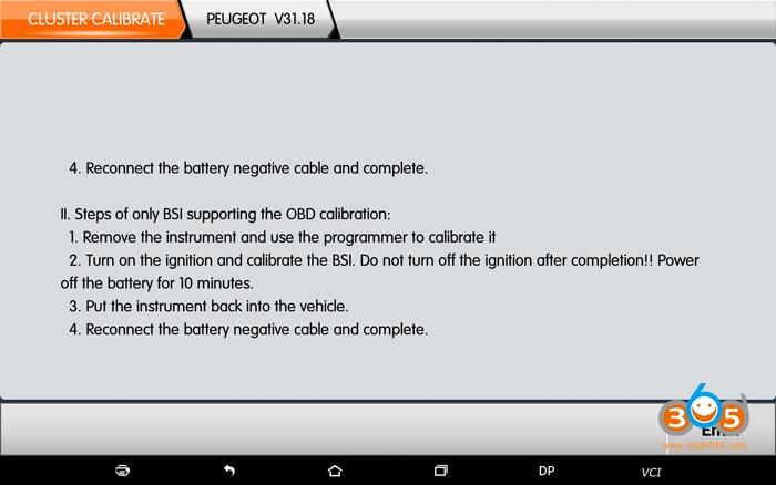 Obdstar Peugeot Odomneter Correction 2