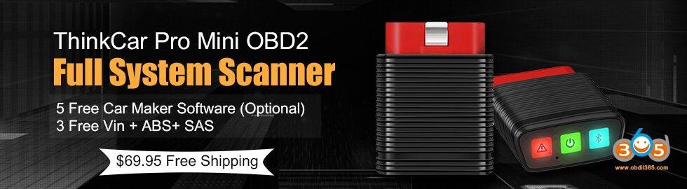 980 280 ThinkCar Pro Mini OBD2 Full System Scanner