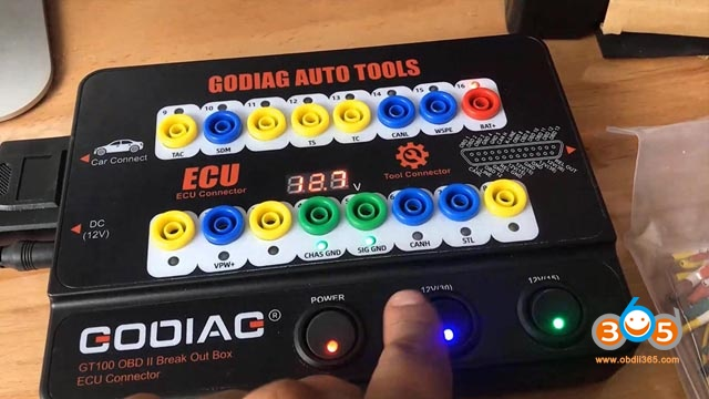 Godiag Gt100 And Autel Maxisys Ultra Test Ecu On Bench 06