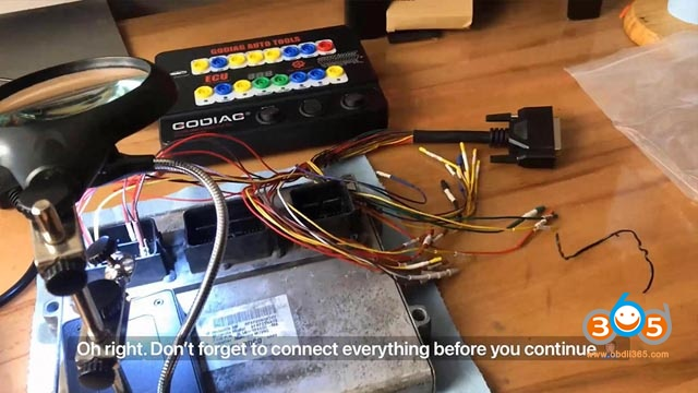 Godiag Gt100 And Autel Maxisys Ultra Test Ecu On Bench 18