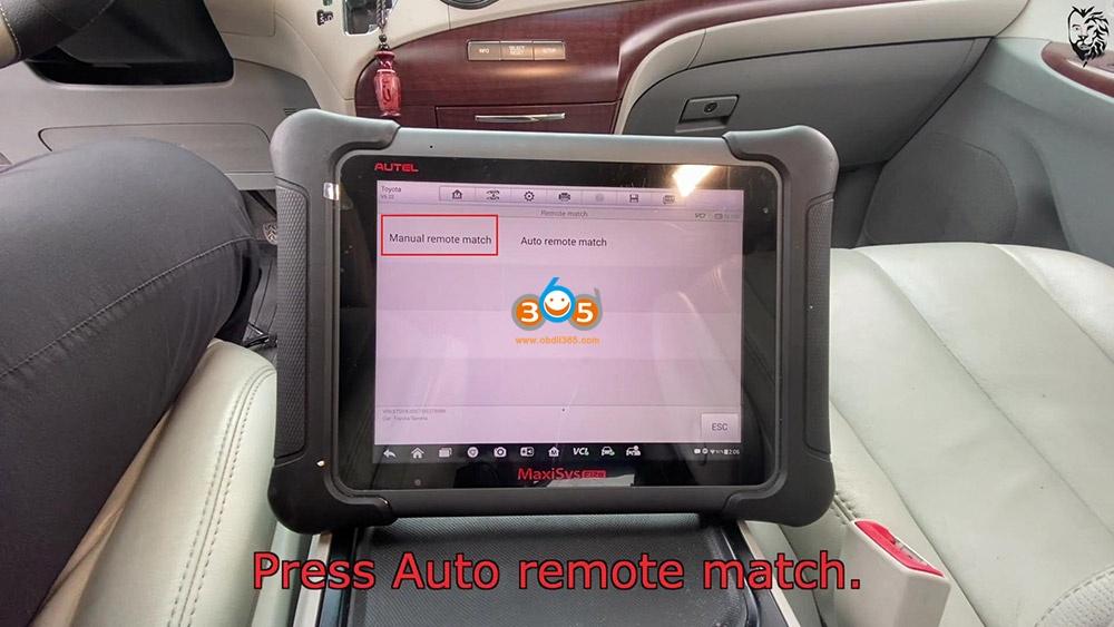 Autel Maxisys Elite Program Toyota Sienna 2013 Smart Keyfob 16