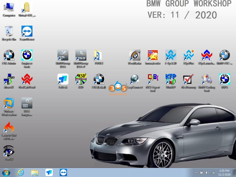 Newly Released V2020.11 Bmw Icom Software 01