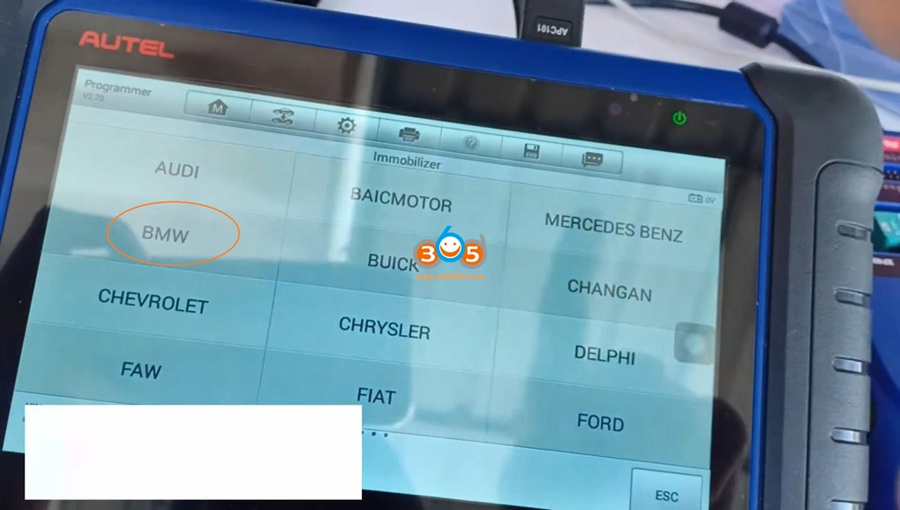 Autel Im508 Xp400 Pro Read Eeprom Cas2 Bmw 07
