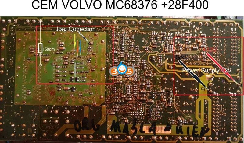 Volvo CEM 28F400 V1 Jtag Smok