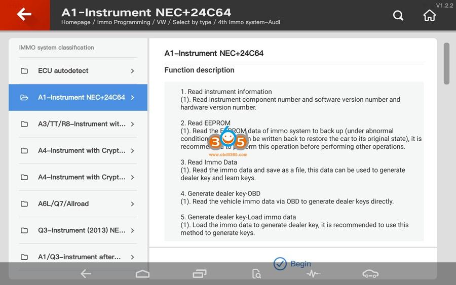 Vvdi Key Tool Plus Audi 4th Immo Programming 02