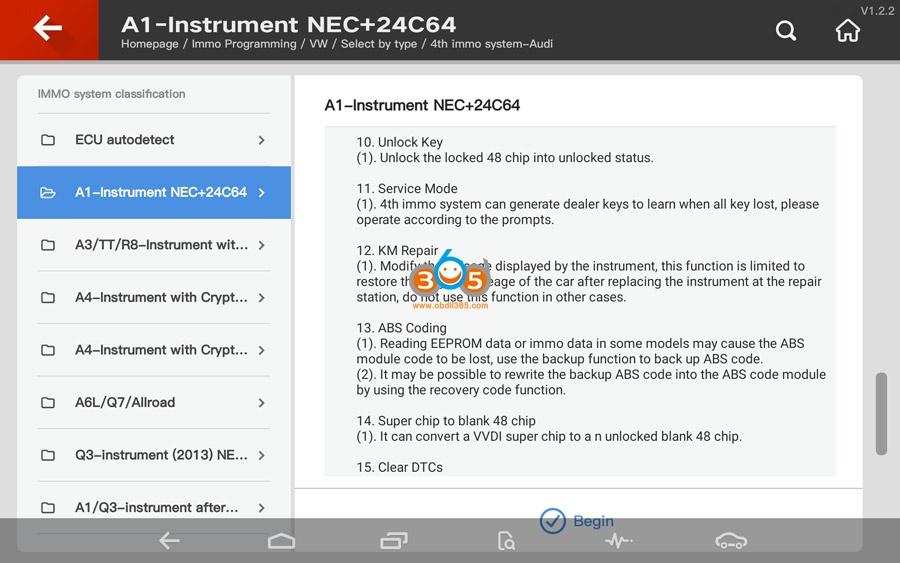 Vvdi Key Tool Plus Audi 4th Immo Programming 04