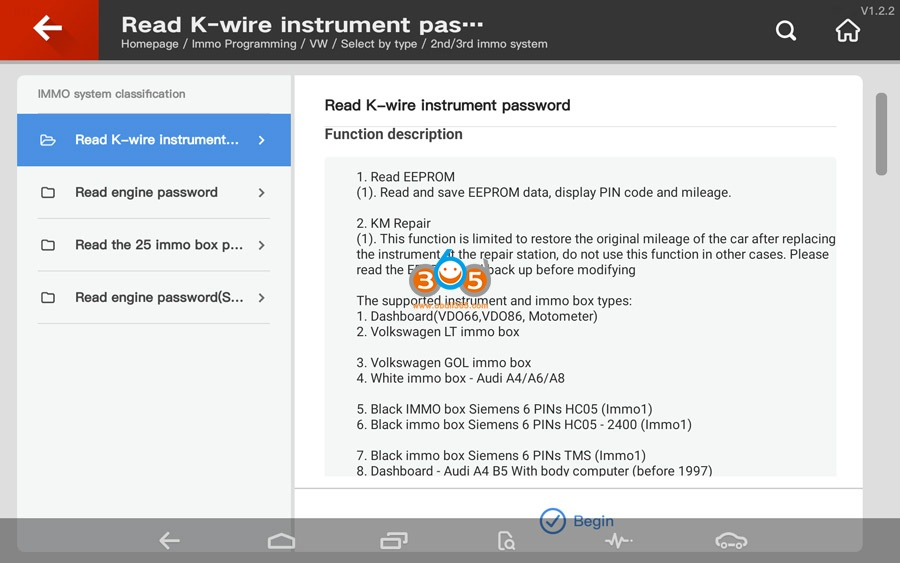 Vvdi Key Tool Plus Vw 2nd 3rd Immo Programming 01