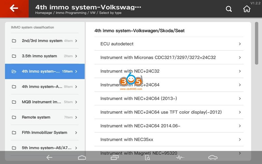 Vvdi Key Tool Plus Vw 4th Immo Programming 01
