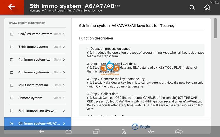 Vvdi Key Tool Plus Vw 5th Immo Programming 01