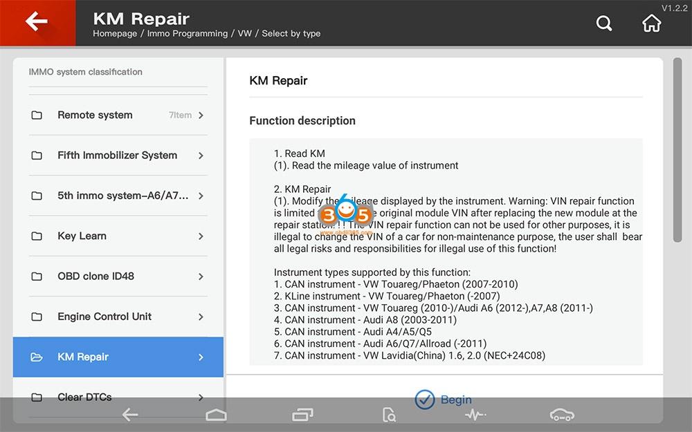 Vvdi Key Tool Plus Vw Km Repair 00