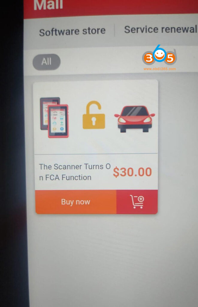 The Scanner Turns On Fca Function