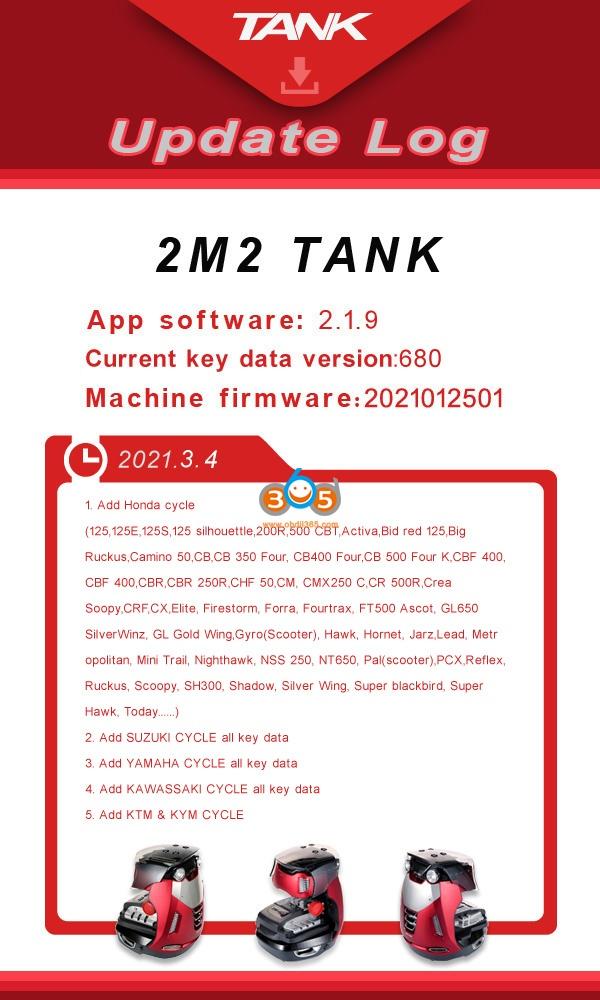 2m2 Magic Tank Motorcycle Key Cutting Update 2