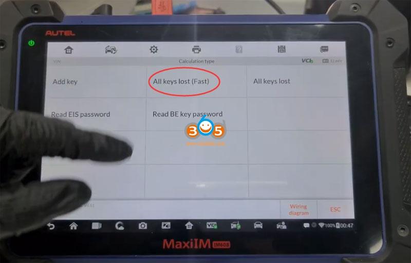 Autel Im608 Mb Test Tool W209 W211 Password 10