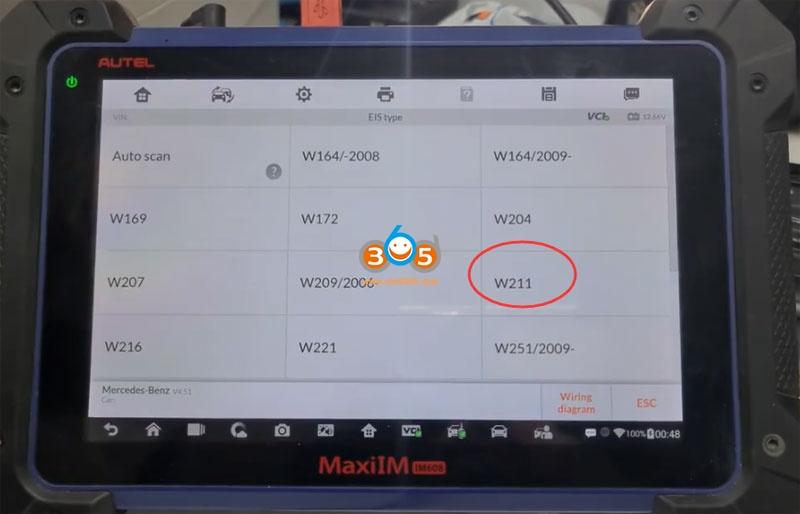Autel Im608 Mb Test Tool W209 W211 Password 13