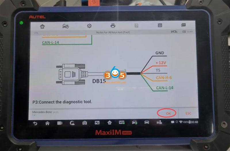 Autel Im608 Mb Test Tool W209 W211 Password 14