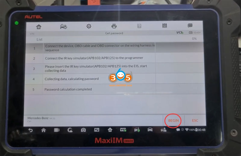 Autel Im608 Mb Test Tool W209 W211 Password 15