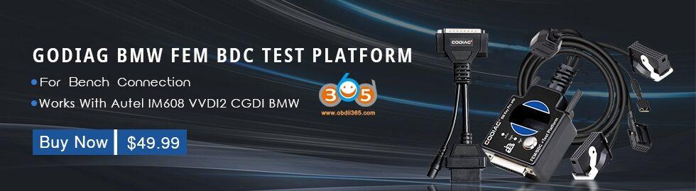 Godiag Fem Test Platform