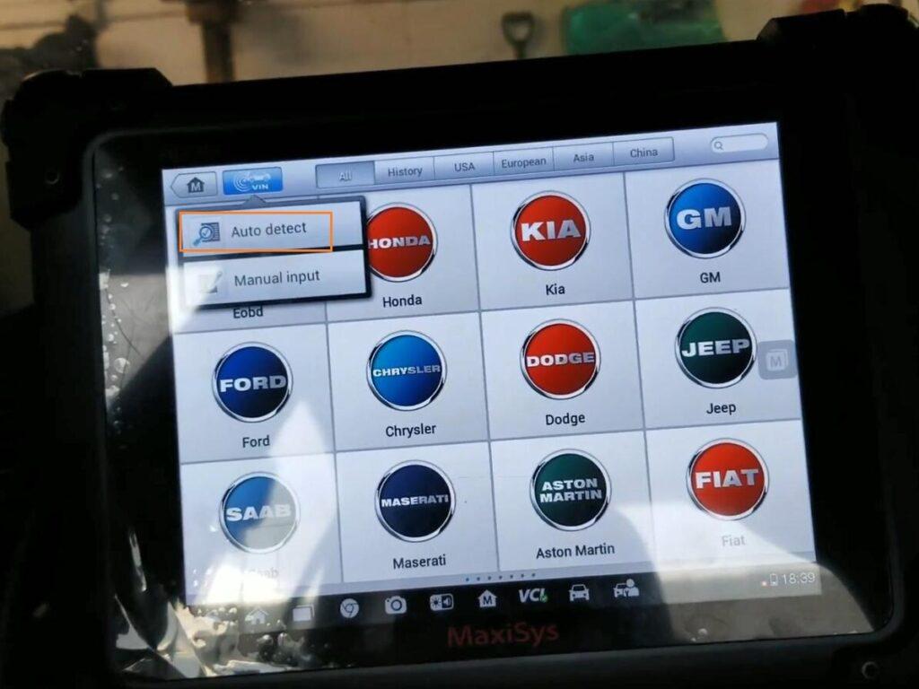 Autel Maxisys Pro Rewrite Vin 2007 Honda Accord 01