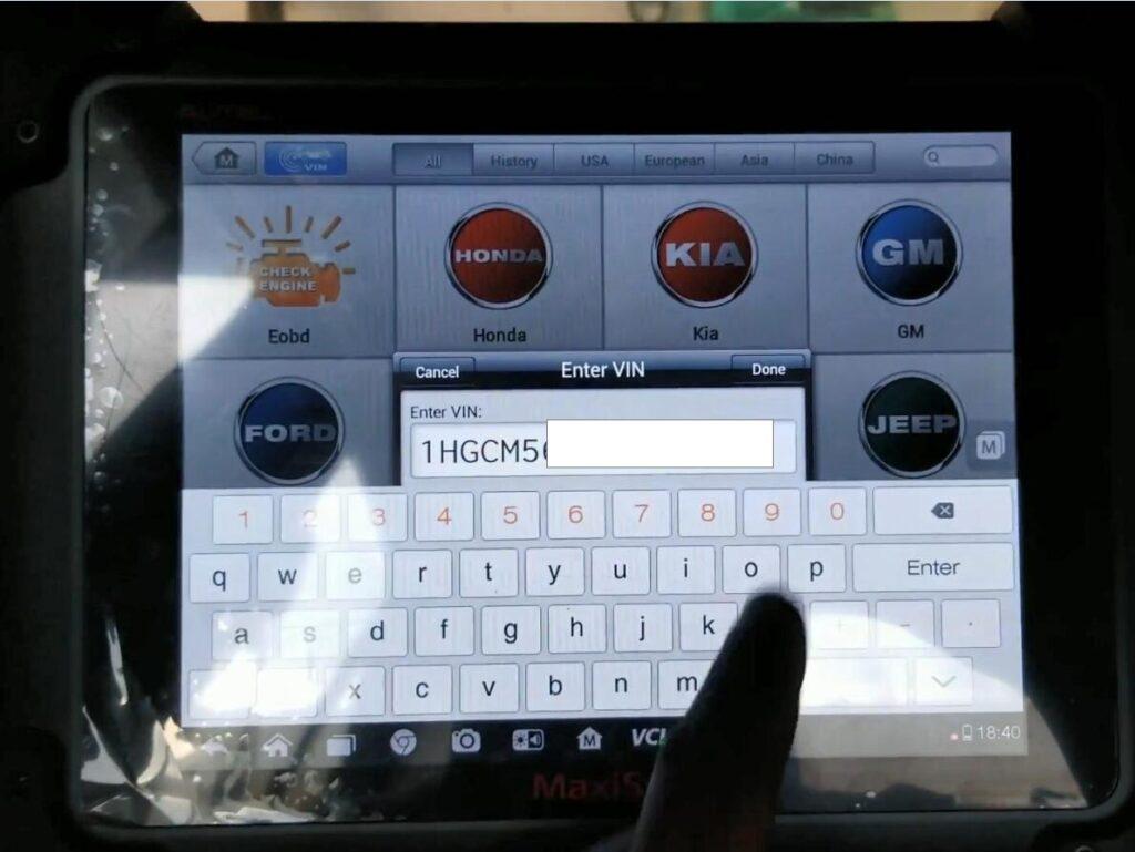 Autel Maxisys Pro Rewrite Vin 2007 Honda Accord 02
