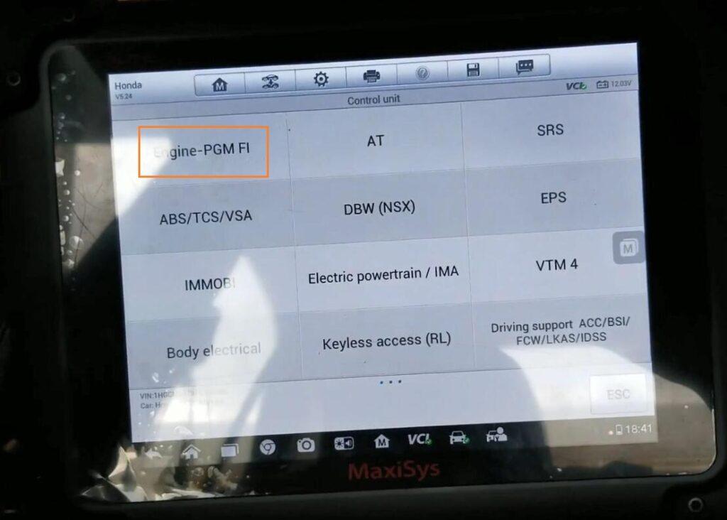 Autel Maxisys Pro Rewrite Vin 2007 Honda Accord 07