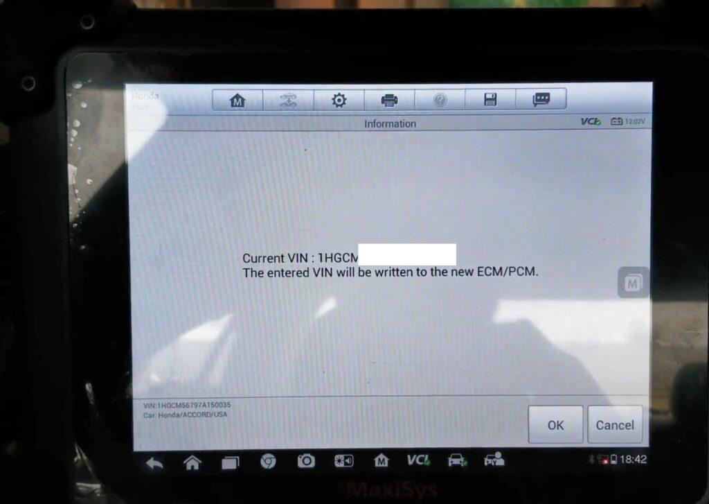 Autel Maxisys Pro Rewrite Vin 2007 Honda Accord 10