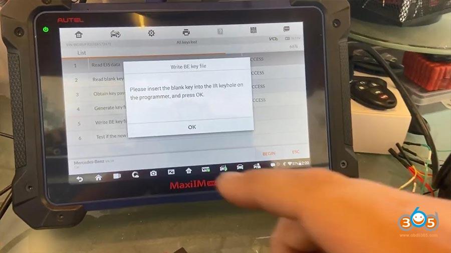 Autel Im608 Pro Mercedes All Keys Lost 18