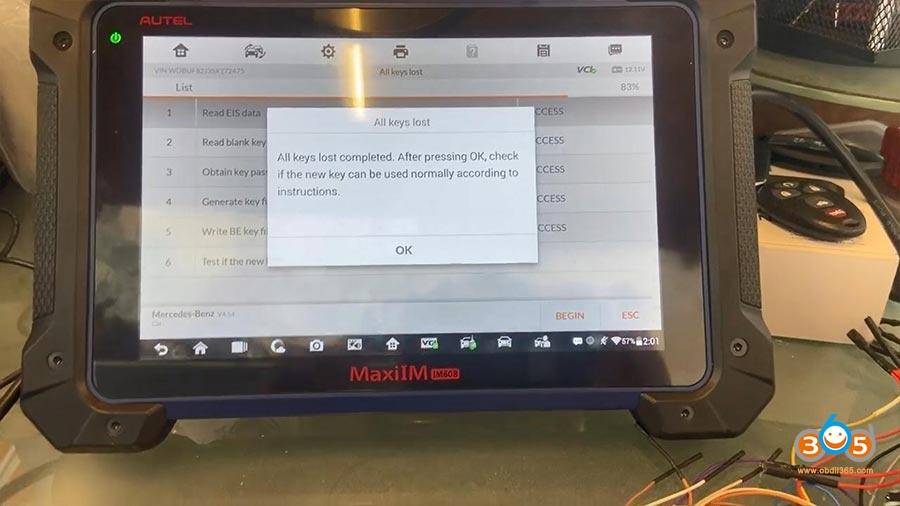 Autel Im608 Pro Mercedes All Keys Lost 21