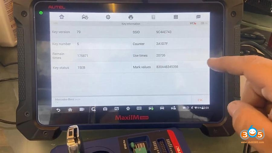 Autel Im608 Pro Mercedes All Keys Lost 29