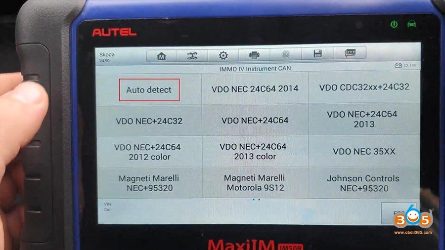 Autel Maxiim Im508 Skoda Octavia 2013 All Keys Lost 07