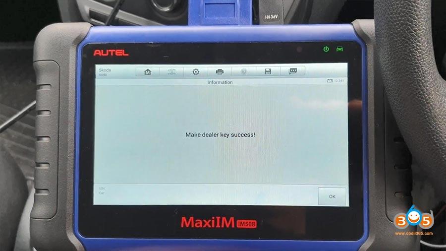 Autel Maxiim Im508 Skoda Octavia 2013 All Keys Lost 14