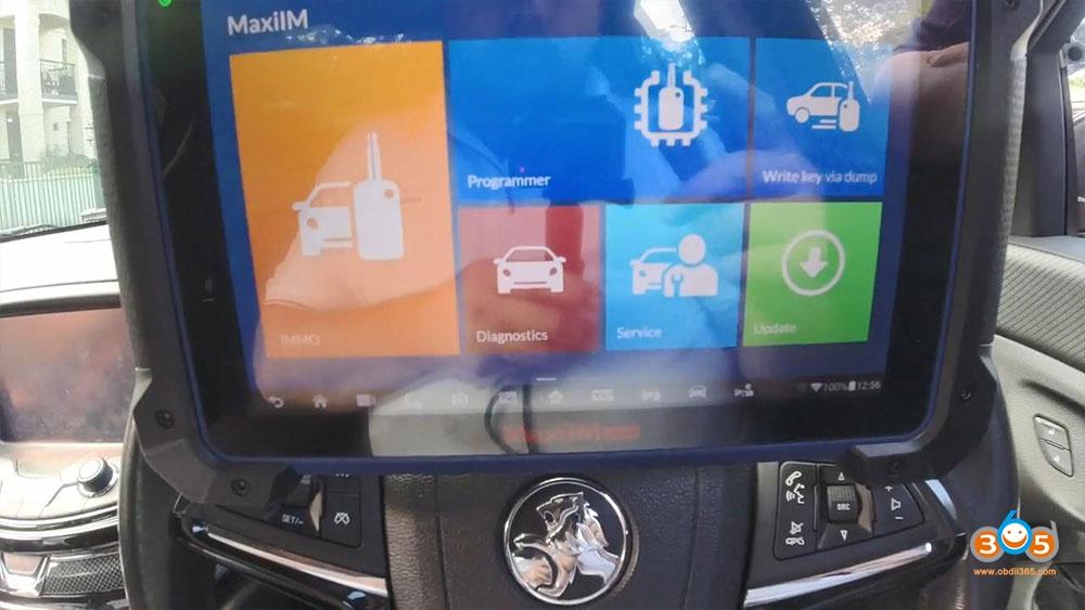 Holden Commadore Vf Program Key Autel Im608 09