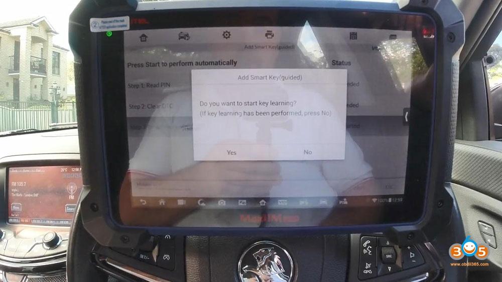 Holden Commadore Vf Program Key Autel Im608 17